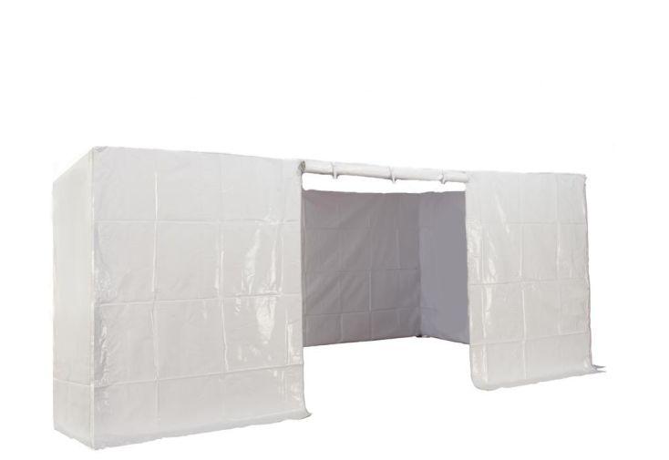Kit 4 Murs avec Porte PVC 320 gr/m² pour 3x4,5 Alu et Acier Furnitrade