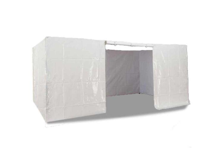 Kit 4 Murs PVC Blanc 520 gr/m² pour Tonnelle Pliante 5x5
