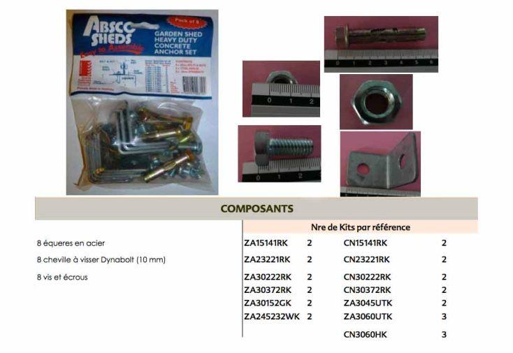kit d 39 ancrage absco pour sol b ton kit d 39 ancrage. Black Bedroom Furniture Sets. Home Design Ideas