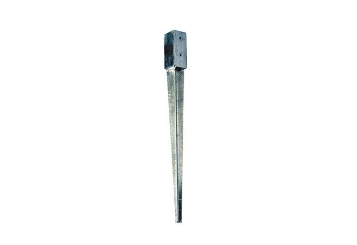 kit d'ancrage en acier galvanisé support à enfoncer 9 x 9 cm