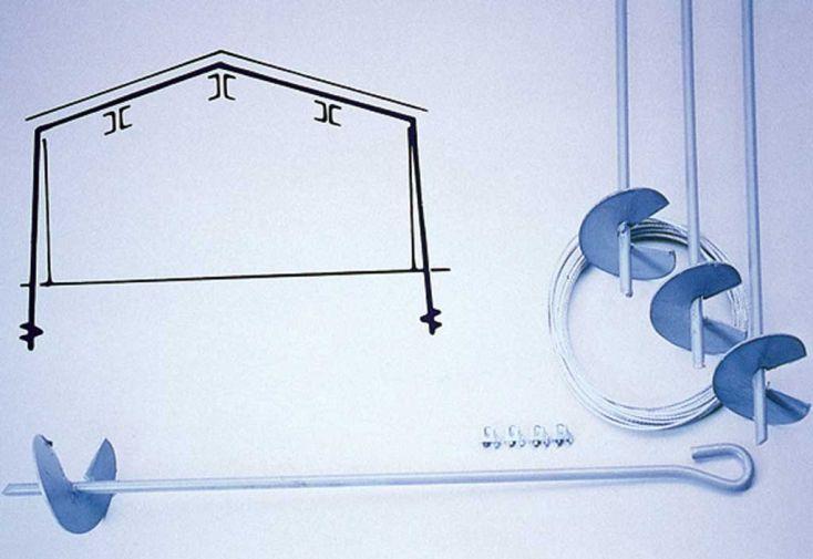 Kit d'ancrage pour sol meuble Lams 2