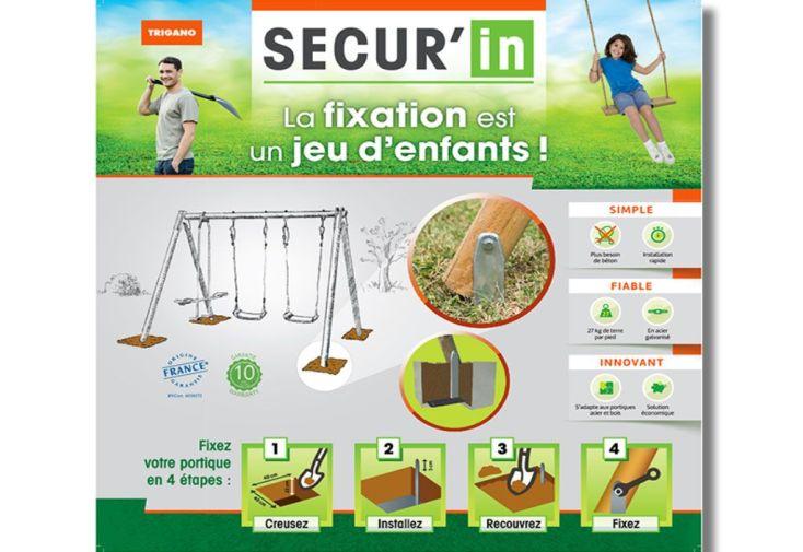 Kit de Fixation Sans Béton Pour Portique Universel