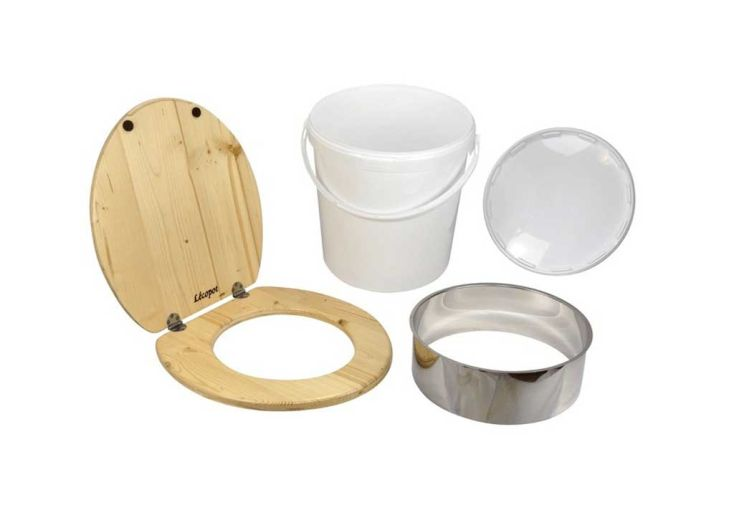 Kit de fabrication toilettes sèches avec seau en plastique 21 L Lécopot
