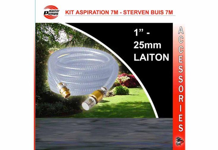 Kit Aspiration pour Pompe Eau 7 m Laiton