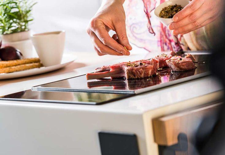 Cuisine d'Exterieur Acier Thermolaqué Solo Grill Mobicook