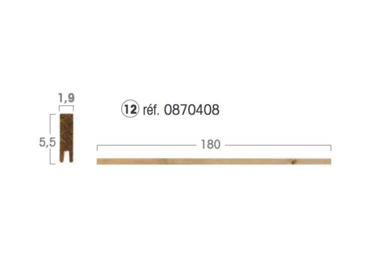 Lame de Finition Droite 5,5 x 180 x 1,9 cm pour Panneau Modulable en Kit