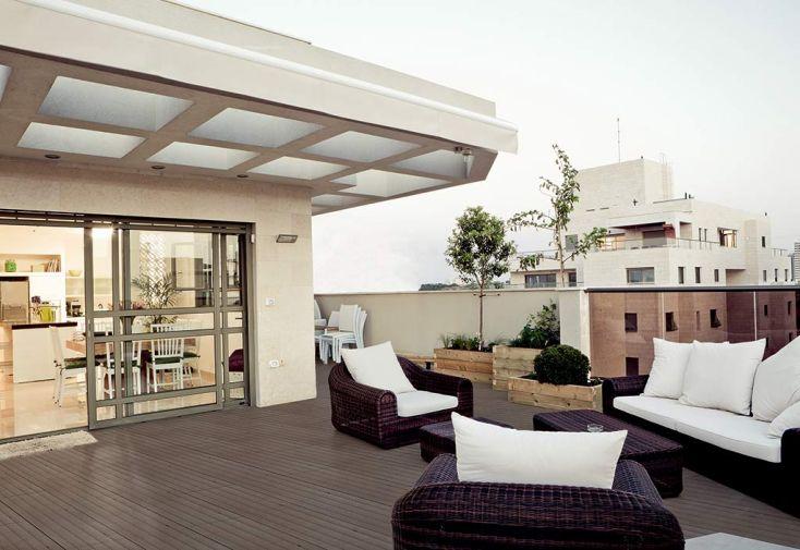 Lames de Terrasse Composite à Emboiter Gris Brossé