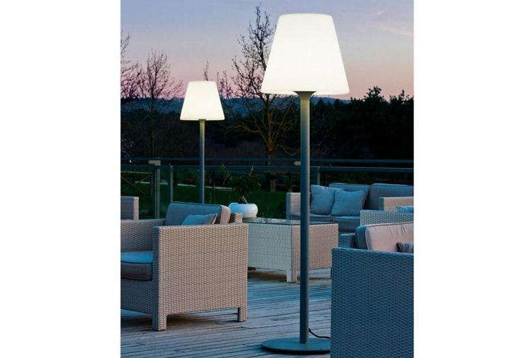 Lampadaire Lumineux Blanc sur Secteur 35x35x150cm