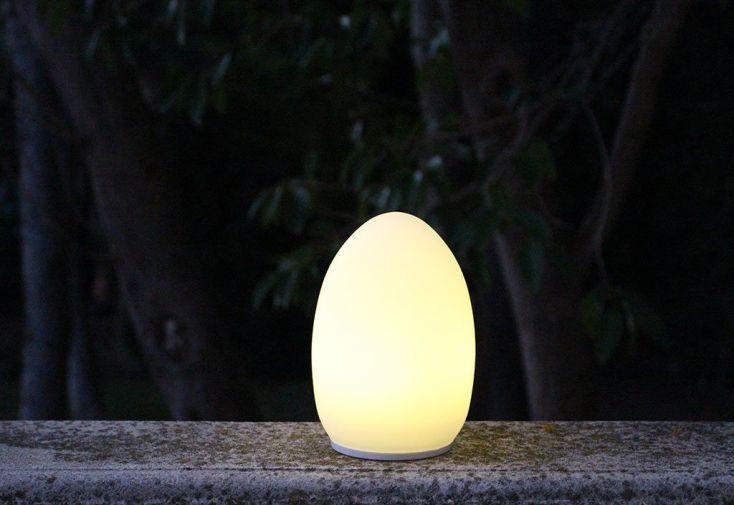Lampes de Table Blanches Autonomes Oeuf - Lot de 2