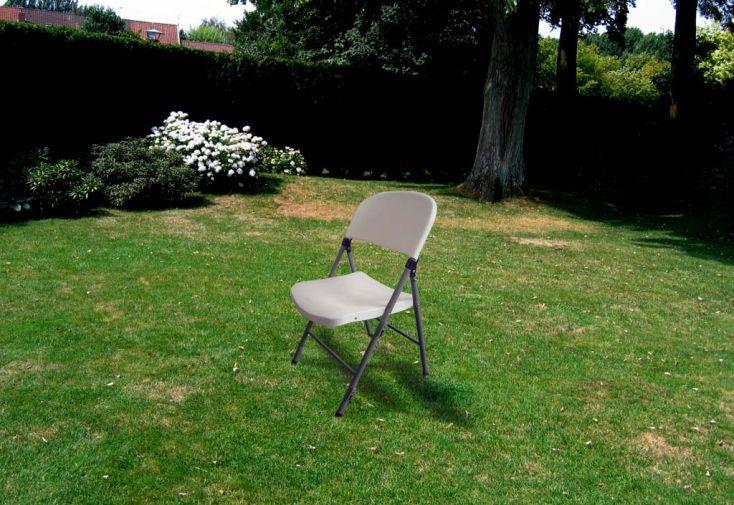 Chaise de Jardin Résine Pliante Accrochable Jumbo