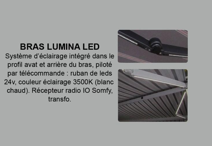 Système d'Eclairage Lumina LED pour Store de Terrasse Athénée