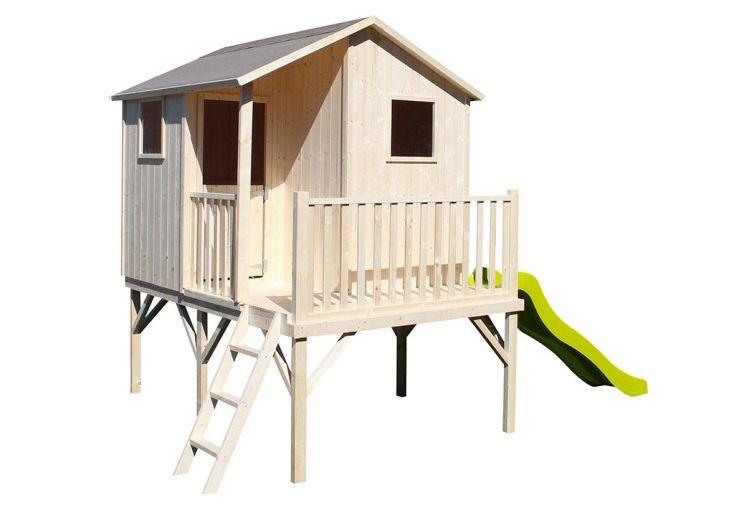 cabane pour enfant maisonnette en bois de jardin toboggan