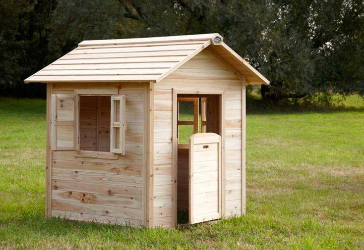 Maison Enfant Bois Noa + Tag Prénom Offert