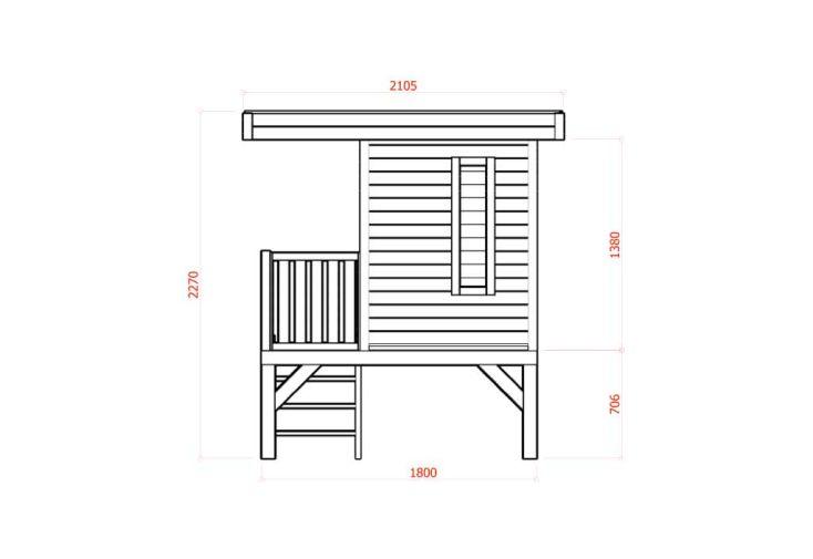 Maison Enfant Bois 16mm sur Pilotis (180x180)