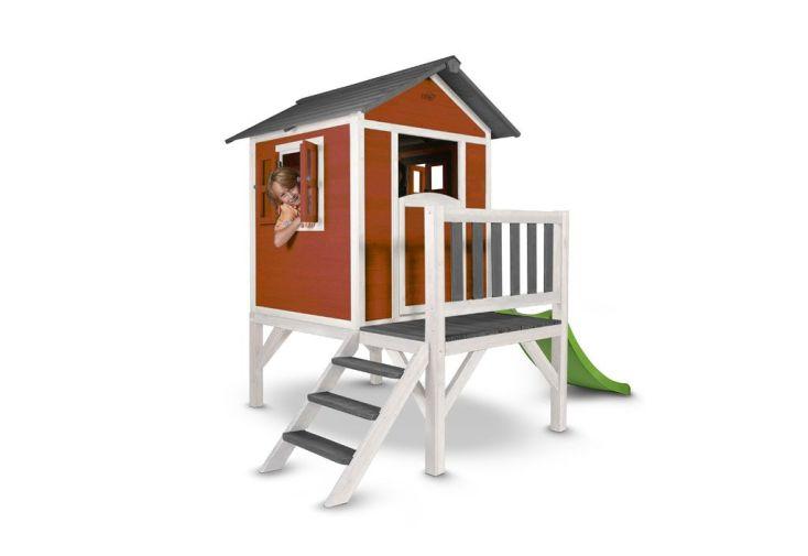 cabane de jardin en bois sur pilotis Lodge XL + toboggan