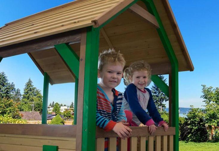 cabane en bois pour enfant en cèdre tropical