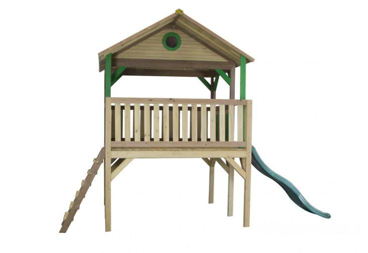 maison enfant bois cabane toboggan baloo axi. Black Bedroom Furniture Sets. Home Design Ideas