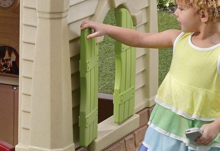 Cabane pour enfants en plastique maison de jardin neat cottage step2 - Petite maison de jardin en plastique ...