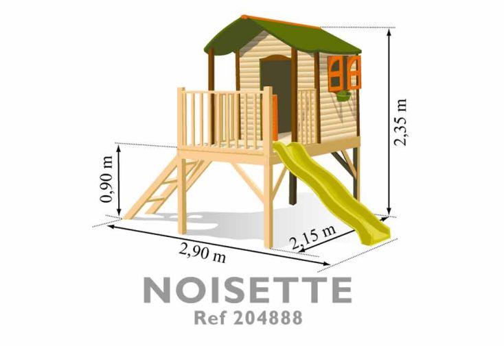 Maison Enfant Bois et Plastique Noisette