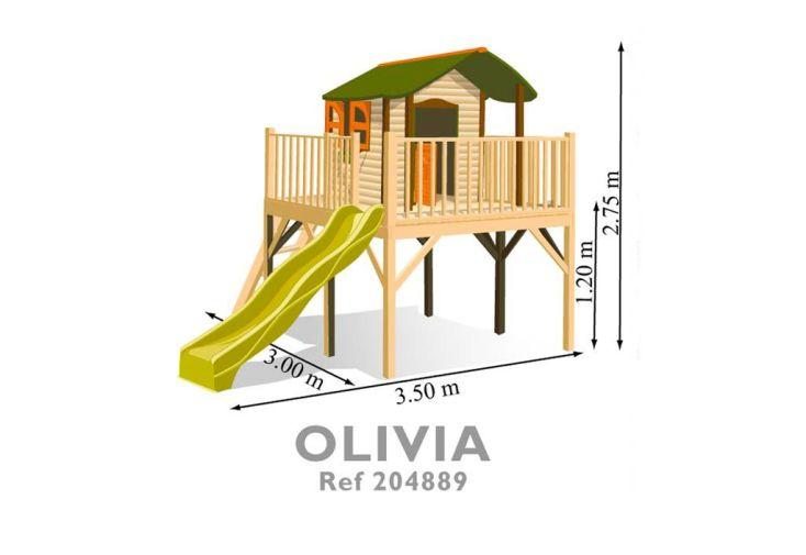 Maison Enfant Bois et Plastique Olivia