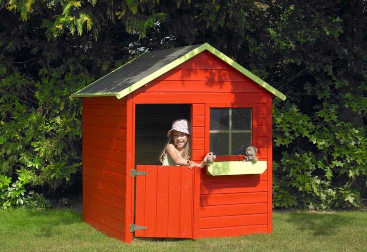maison pour enfant bois coccinelle cerland. Black Bedroom Furniture Sets. Home Design Ideas