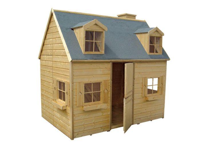 Maison pour enfant bois rosalie cerland - Maison de jardin bois enfant ...