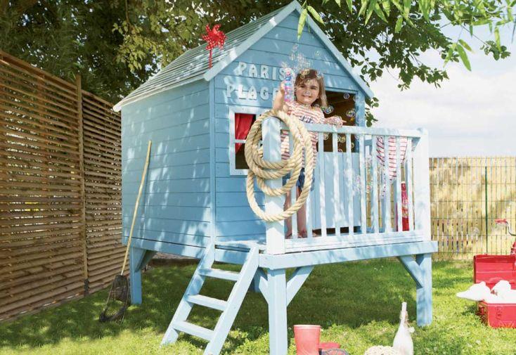 Cabane Maison d'Enfants en Bois Traité sur Pilotis Winny – 1,5 x 2 m