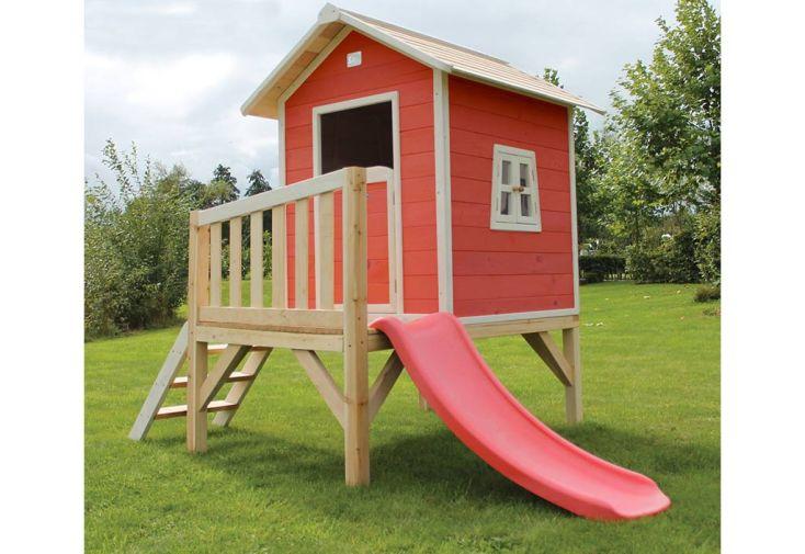 maison pour enfant bois sur pilotis rouge beach exit toys. Black Bedroom Furniture Sets. Home Design Ideas