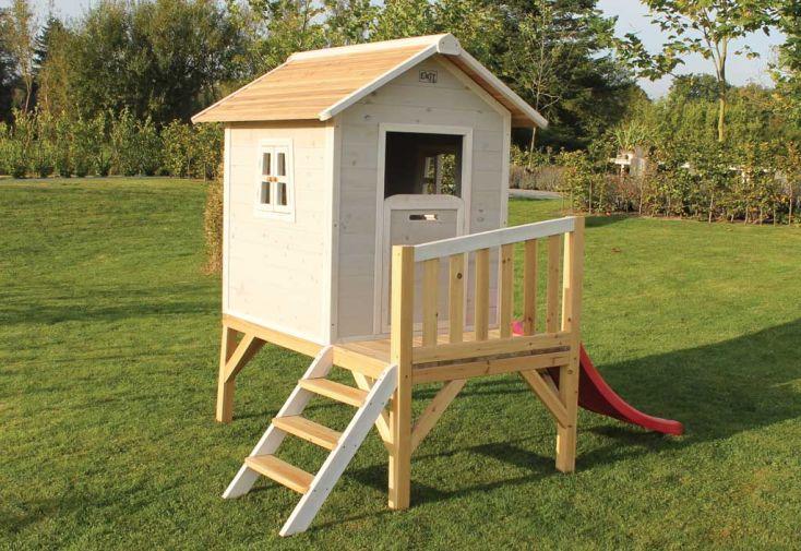 Maison pour enfant bois sur pilotis grise beach exit toys - Maison de jardin bois enfant ...