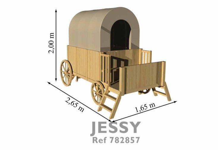Maison Roulotte Bois pour Enfant Jessy