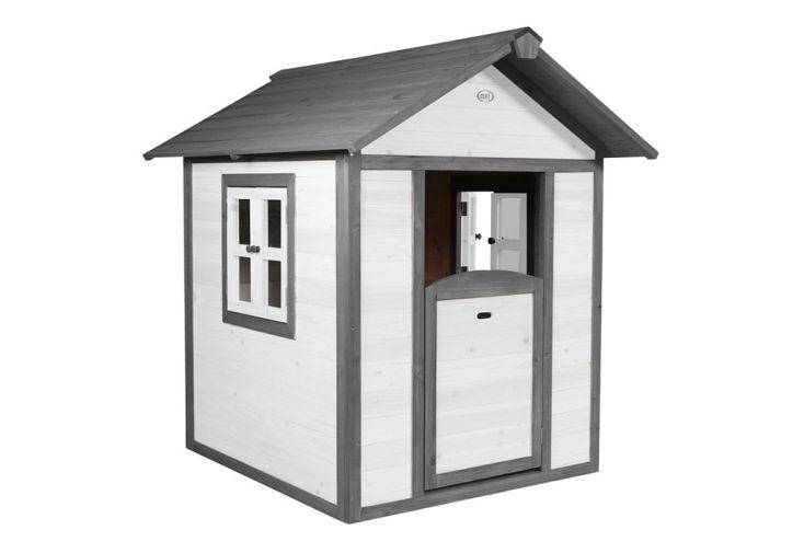 Maisonnette pour Enfant en Bois de Hemlock Axi Lodge Gris et Blanc