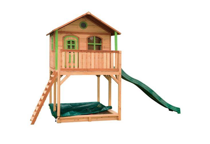 Jeux pour Enfant Maisonnette en Bois de Hemlock avec Toboggan Axi Andy