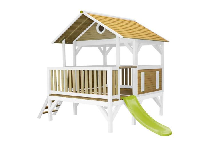 Maisonnette pour Enfant en Bois de Hemlock avec Toboggan Axi Meeko