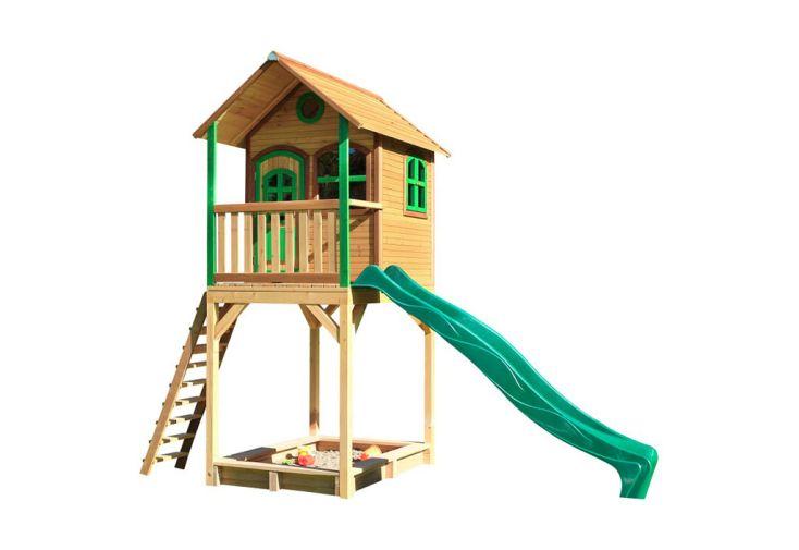 Maisonnette pour Enfant Cabane en Bois de Hemlock avec Toboggan Axi Romy