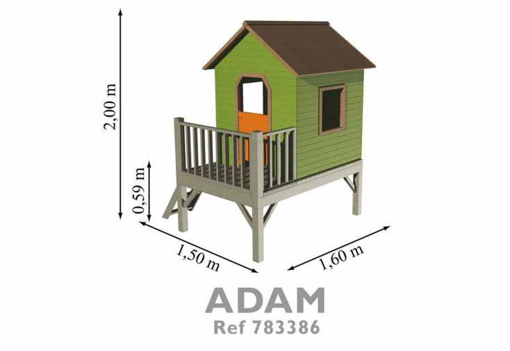 Maison Enfant Bois Adam sur Pilotis