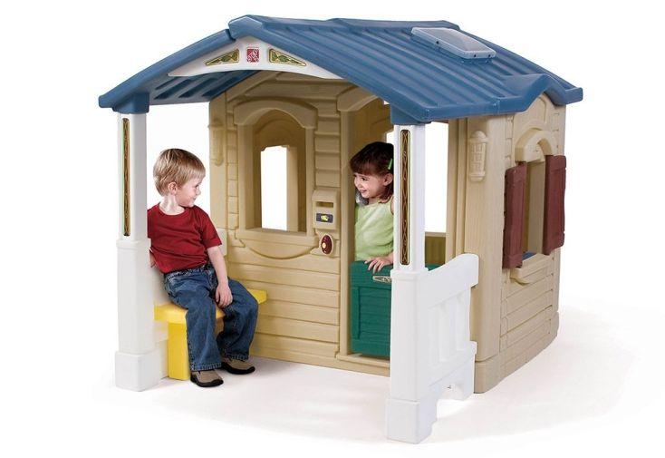 maisonnette pour enfants avec porche
