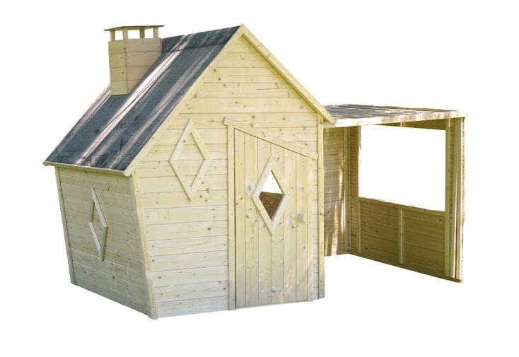 Cabane pour enfants en bois brut à traiter