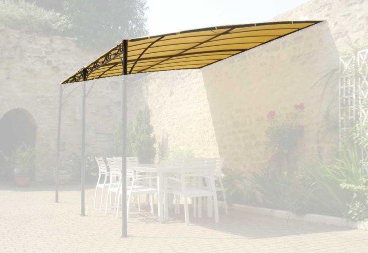 Toile d'ombrage 3x4 m Azur adossée avant 2008