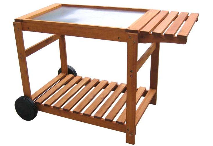 Chariot bois Pour Plancha 70 cm