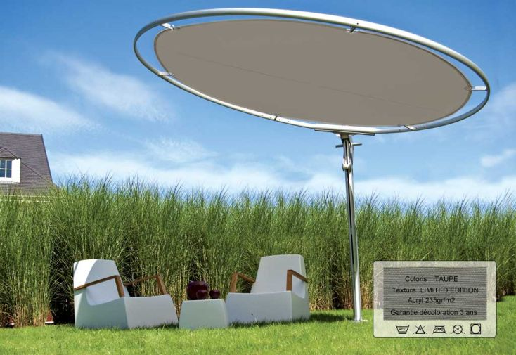 Parasol Eclipse 3.0 Rond Limited Taupe