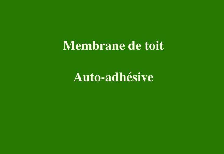 Membrane de Toit Auto-adhésive - Rouleau de 5 m²