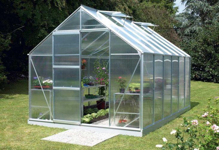 Serre de jardin polycarbonate Merkur 11500 Lunaire