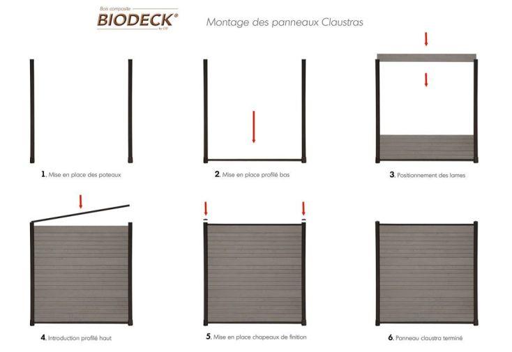 platine de fixation claustra platine de fixation gris pour claustra biodeck. Black Bedroom Furniture Sets. Home Design Ideas