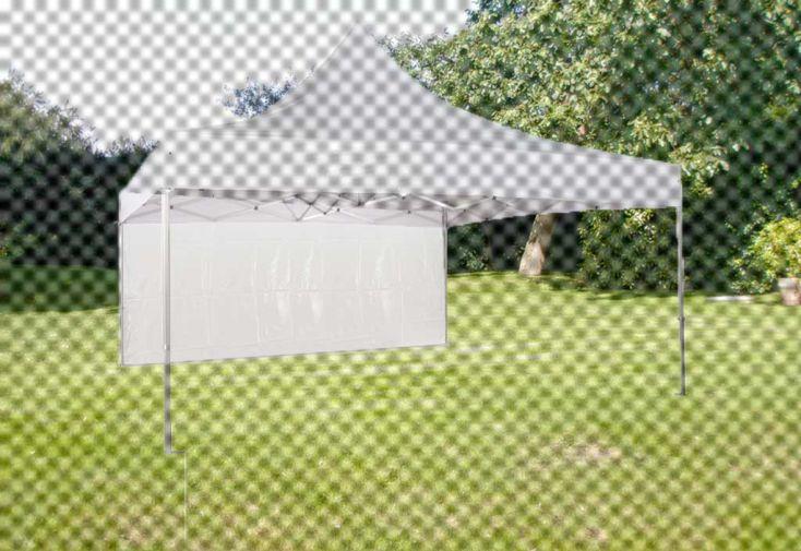 Mur Plein PVC Blanc 520 gr/m² pour tonnelle Pliante 5x5