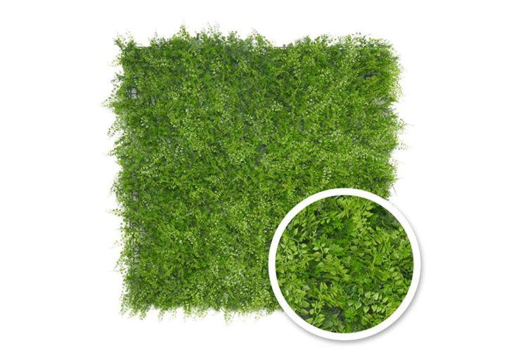 mur végétal fougère 1 m2 imitation feuilles vertes