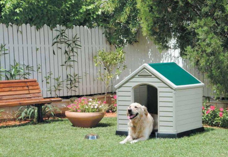 Niche pour chien resine niche chien en r sine chal t for Niche chien exterieur