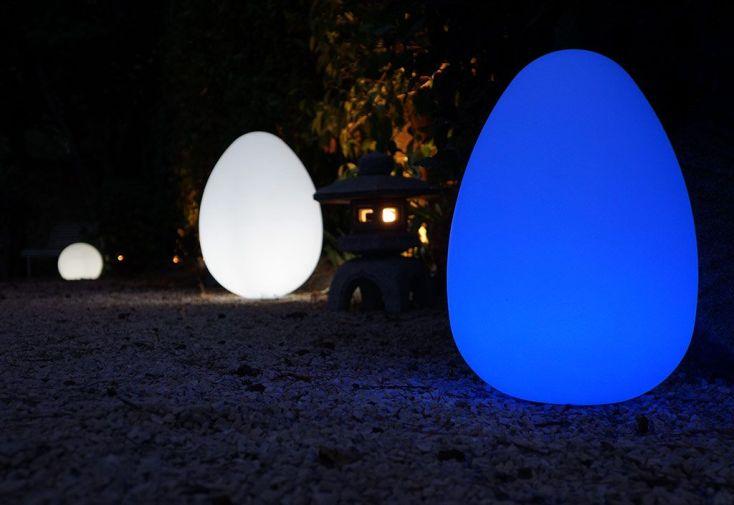 Oeuf Lumineux Multicolore Autonome 30x30x42cm