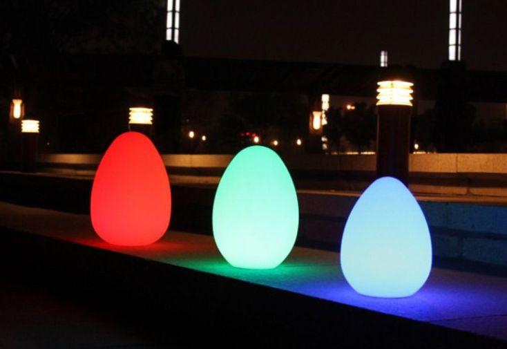 Oeuf Lumineux Multicolore Autonome 25x25x36cm