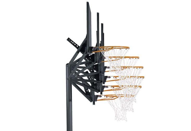 Panier de Basket Ajustable (2,40 à 3 m) Front Court 44 Impact