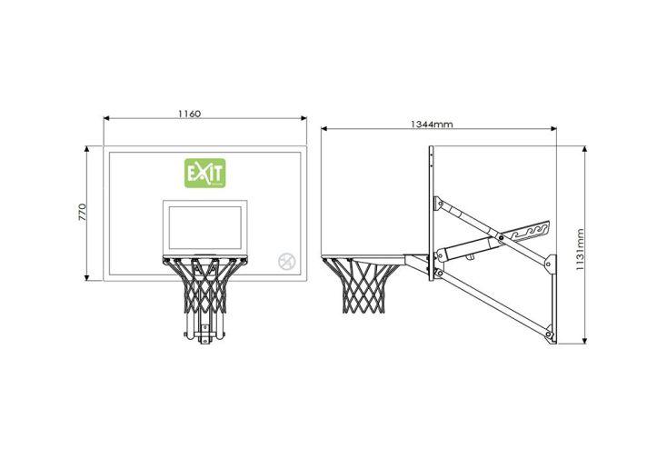 Panier de Basket Mural Réglable en Hauteur Galaxy